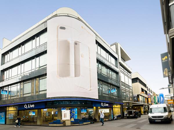 Verkaufsförderung Gebäude Banner