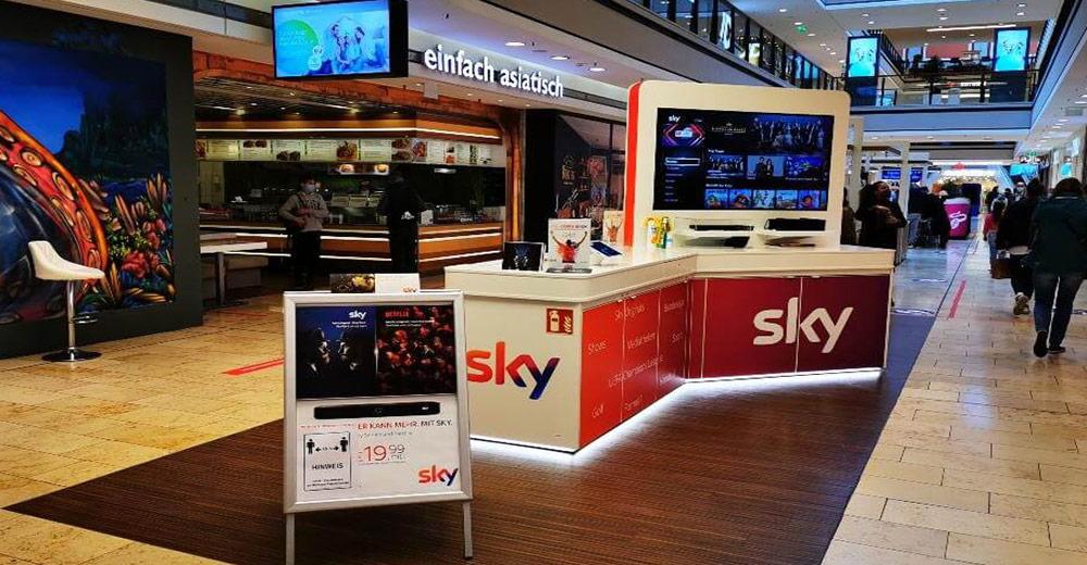 Sky Verkaufsstände